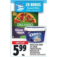 Nestle Real Dairy Ice Cream, Dessert, Novelties Or Delissio Pizza