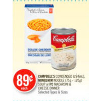 Campbell's Condensed, Nongshim Noodle Soup Or PC Macaroni & Cheese Dinner