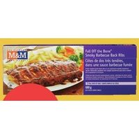 M&M Food Market Smokey Barbecue or Honey Garlic Back Ribs