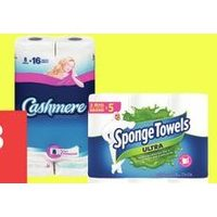 Cashmere Bathroom Tissue Double or Spongetowels Ultra Choose-a-Size