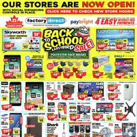 Factory Direct - Back To School Early Bird Sale! Flyer