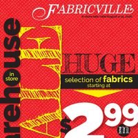 Fabricville - Warehouse In-store Sale Flyer