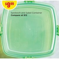 Sandwich and Salad Container