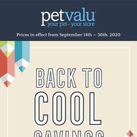 Pet Valu - Back To Cool Savings Flyer