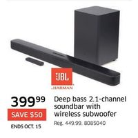 UBL Deep Bass 2.1-Channel Soundbar With Wireless Subwoofer