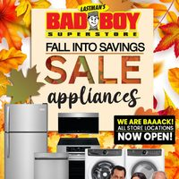 Bad Boy Furniture - Fall Into Savings Sale Appliances Flyer