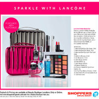 Shoppers Drug Mart - Beauty Boutique Locations Only - Sparkle With Lancome Flyer