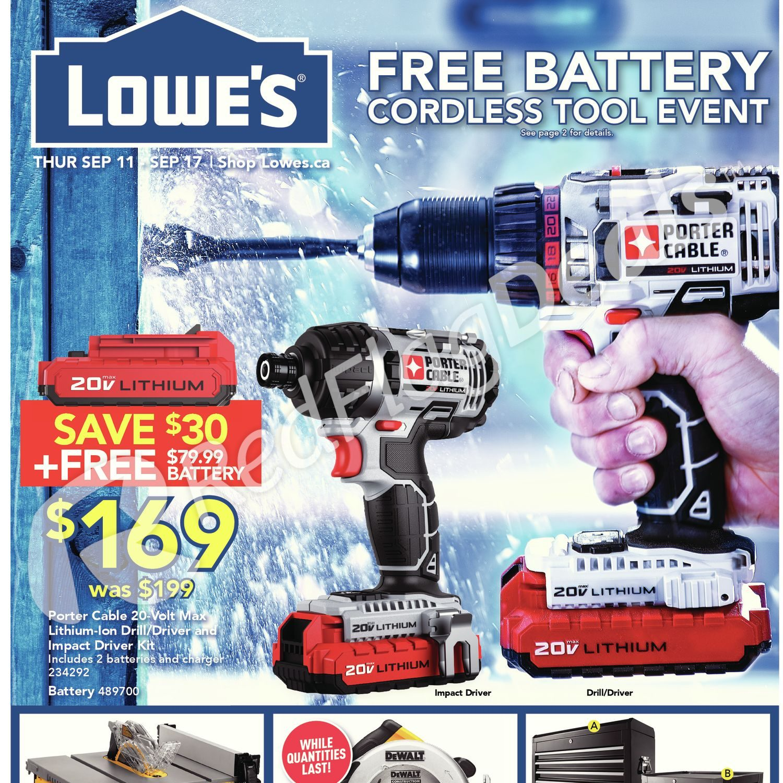 Lowe\'s Weekly Flyer - Weekly Flyer - Sep 11 – 17 - RedFlagDeals.com