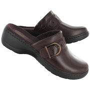 Women's HAYLA TITAN Burgundy Leather Casual Clogs - $74.99 (25% off)