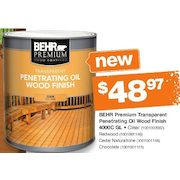 Behr Premium Transpa Penetrating Oil Wood Finish 4000c Gl 48 97