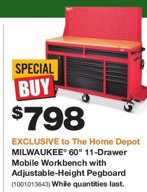 Admirable Home Depot Milwaukee 60 11 Drawer Mobile Workbench With Machost Co Dining Chair Design Ideas Machostcouk