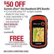 Cabelas: Garmin eTrex 20x Handheld GPS Bundle - Free Topo