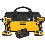 "DeWalt 20V Max XR Brushless 1/2"" Compact Hammerdrill and 1/4"" Impact Driver Kit - $299.00"