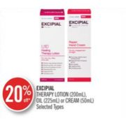 20% Off Excipial Therapy Lotion, Oil or Cream