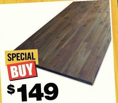 Home Depot Acacia Wood Kitchen Countertop Brown 149 00