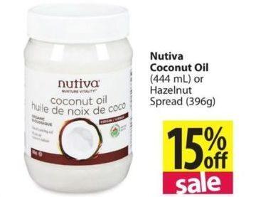 Overwaitea: Nutiva Coconut Oil Or Hazelnut Spread