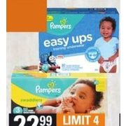 Pampers Super Big Pack Diapers, Size or Easy Ups Size Training Pants - $22.99