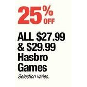 All $27.99 & $29.99 Hasbro Games
