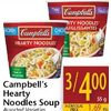 Campbell's Hearty Noodles Soup - 3/$4.00
