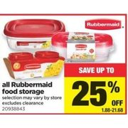 All Rubbermaid Food Storage - $1.88-$21.68 (Up to 25% off)