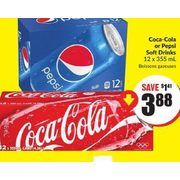 Coca-Cola or Pepsi Soft Drinks   - $3.88 ($1.41 off)