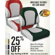 Bass Pro Shops Tournament Pro Boat Seat - 25% off
