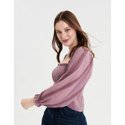 Ae Square Neck Smocked Peasant Top - $19.99 ($29.96 Off)