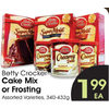 Betty Crocker Cake Mix Or Frosting - $1.99