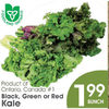Black, Green Or Red Kale - $1.99/bunch
