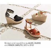 Aldo, Guess And Vince Camuto Wedges And Espadrilles  - $85.00-$160.00