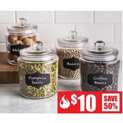 Chalkboard Canister Set - $10.00 (50% off)