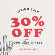 Fossil Spring Sale: 30% off Fave Styles (Including Sale)