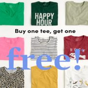 J.Crew Factory: BOGO Free on Tees
