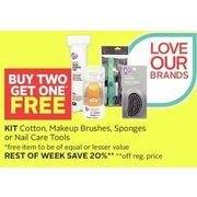 Kit Cotton Makeup Brushes, Sponges Or Nail Care Tools - Buy Two Get One Free