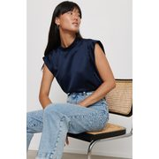 Dylan Satin Mock Neck Top - $17.50 ($17.45 Off)
