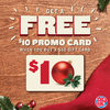 Boston Pizza: Get a FREE $10 Promo Card with $50 In-Restaurant Gift Card Purchase